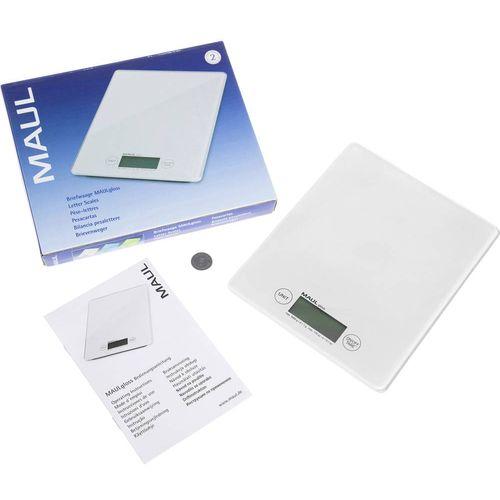 Vaga za pisma Maul Opseg mjerenja (kg) 5000 g Mogućnost očitanja 1 g baterijski pogon Bijela slika 3