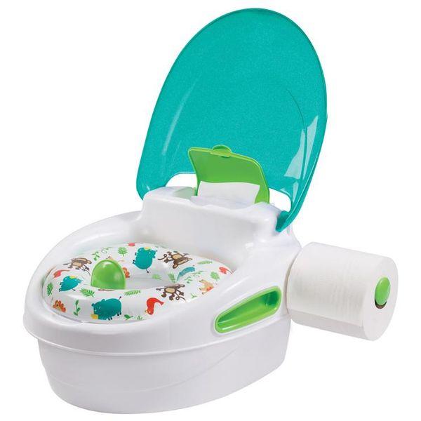 Savršeno za treniranje vašeg djeteta, Step By Step® Potty ima sve što roditelj treba kako bi omogučili lakše odvikavanje od pelena.  S ugrađenim poklopcem i držačem WC-papira, ovaj potty pomaže roditeljima promovirati i podučavati važne higijenske...