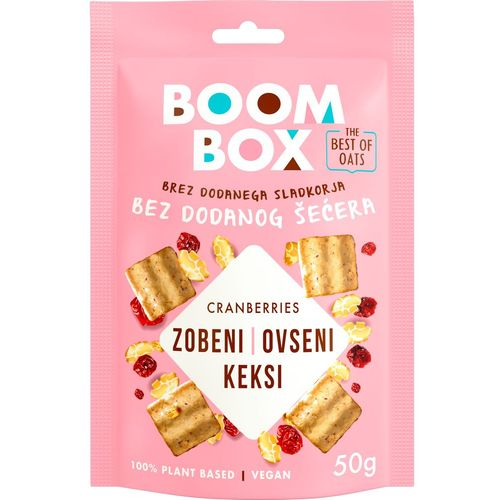 Boom Box Zobeni keksi Brusnica 50g slika 1