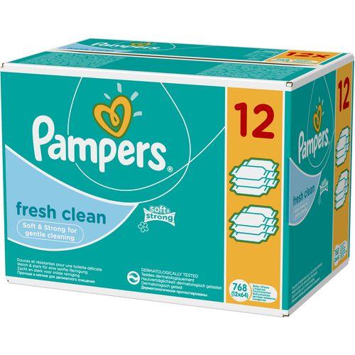 Pampers Dječje vlažne maramice Fresh Clean, 12 x 64 komada slika 1