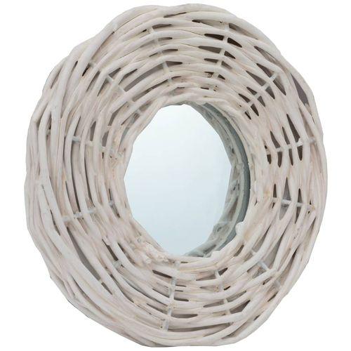 Ogledala od pruća 3 kom bijela 15 cm slika 3