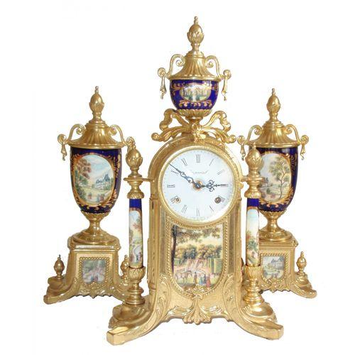 Stolni mehanički sat Panteon GALLO HERMLE slika 1