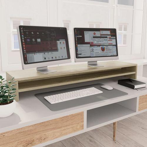 Stalak za monitor boja hrasta sonome 100 x 24 x 13 cm iverica slika 10