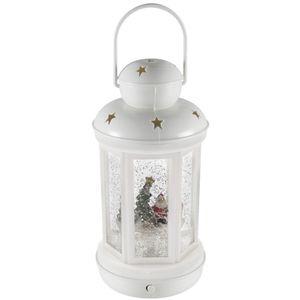 Dekorativna LED rasvjeta, interijer, toplo bijela svjetlost, plastično kućište, sigurnosno staklo, imitacija snježne padavine, dimenzije Ø10 x 20 cm, napajanje 3 x 1,5V AAA baterija