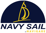 Navigare Navy Sail logo