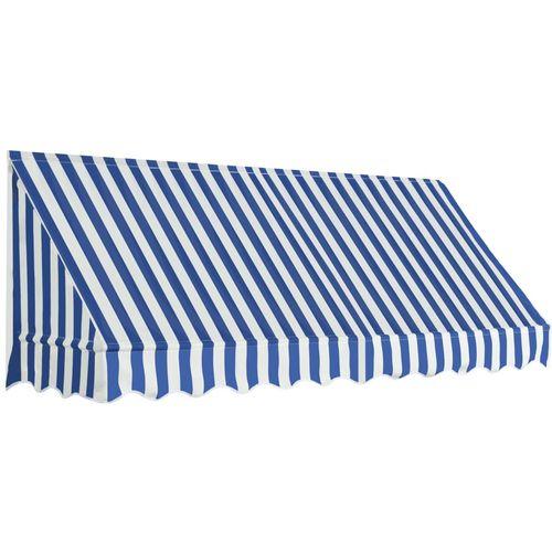 Bistro tenda 250 x 120 cm plavo-bijela slika 1
