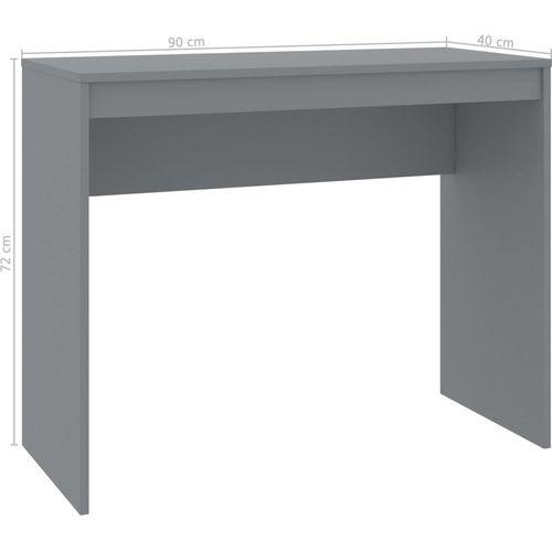 Radni stol sivi 90 x 40 x 72 cm od iverice slika 6