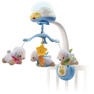 VTech Lullaby Lambs 2u1 vrtuljak i projektor sigurno će umiriti i najnemirniju bebu i pripremiti je za san. Vrtuljak sadrži 3 mekane ovčice koje se vrte, a projektor projicira 4 raznolika uzorka te svira 4 pjesmice, 40 melodija, zvukove prirode ili bijeli šum...