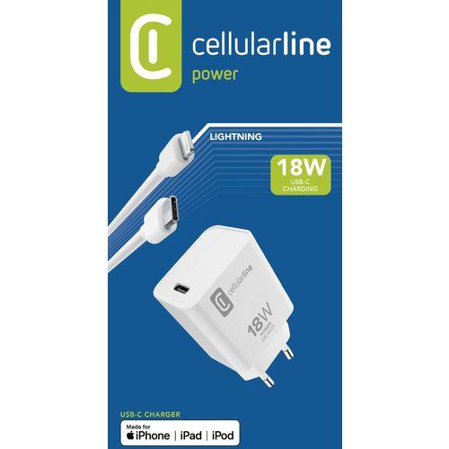 Cellularline kućni punjač Apple TYPE-C i kabel TYPE-C to MFI 18W slika 2