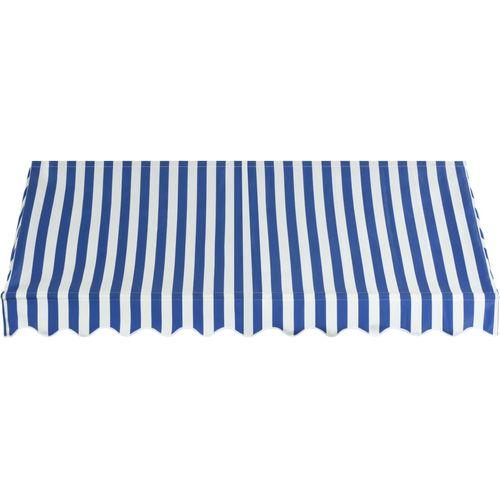 Bistro tenda 250 x 120 cm plavo-bijela slika 11