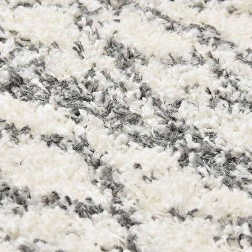 Čupavi berberski tepih PP bež i boja pijeska 120 x 170 cm slika 2
