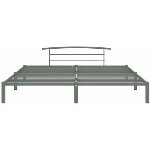 Okvir za krevet sivi metalni 180 x 200 cm slika 2