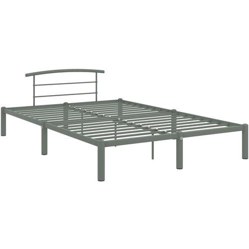 Okvir za krevet sivi metalni 140 x 200 cm slika 2