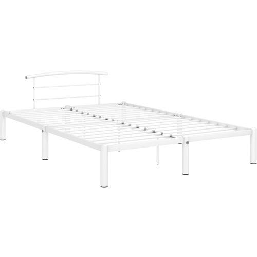 Okvir za krevet bijeli metalni 160 x 200 cm slika 2