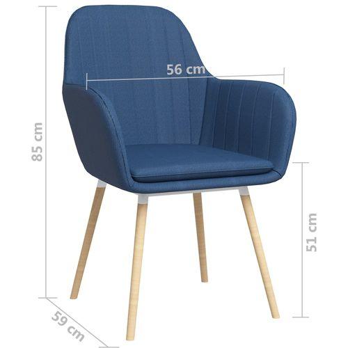 Blagovaonske stolice s naslonima za ruke 2 kom plave od tkanine slika 7