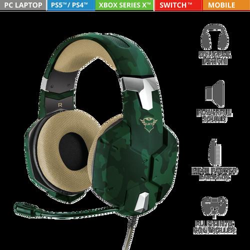 Trust gaming slušalice za PS4/PS5 GXT322 Carus maskirno zelene (20865) slika 1