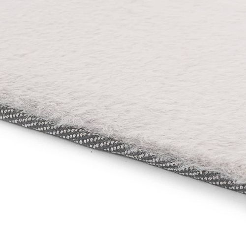 Tepih od umjetnog zečjeg krzna 160 x 230 cm sivi slika 3