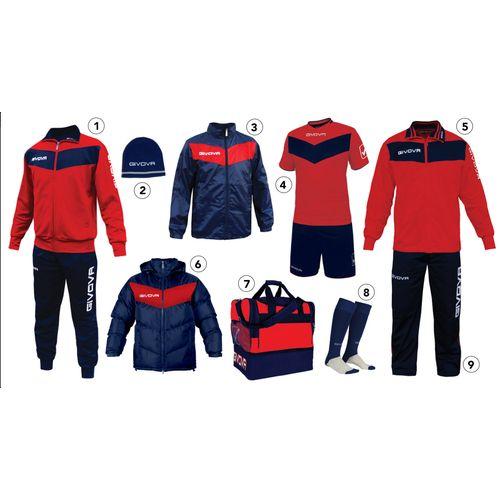 Givova sportski set za nogomet - crvena/plava slika 1