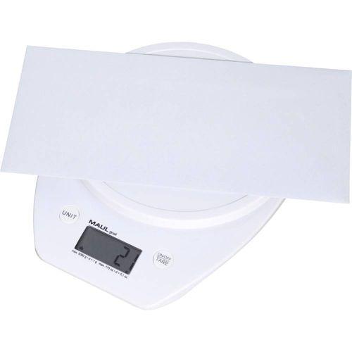 Vaga za pisma Maul Opseg mjerenja (kg) 5000 g Mogućnost očitanja 1 g baterijski pogon Bijela slika 5