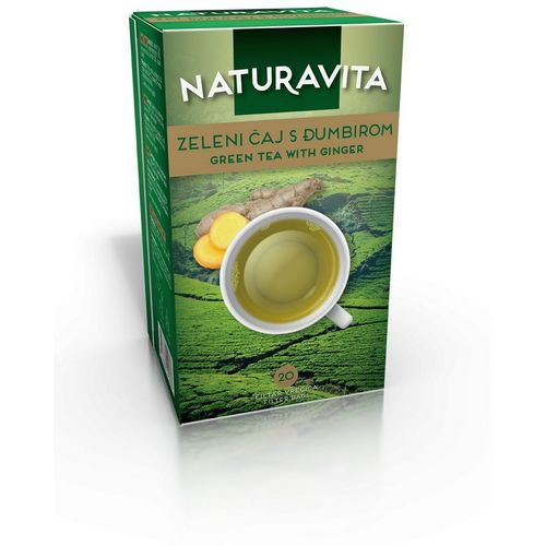 Naturavita Čaj Zeleni S Đumbirom Filter 20X2 g slika 1