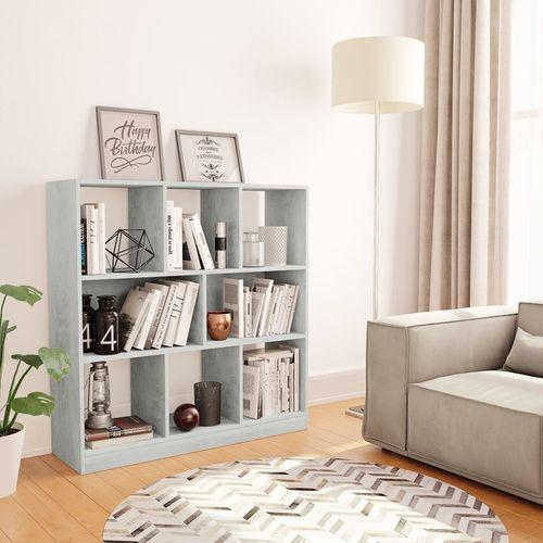 Ormarić za knjige boja betona 97,5 x 29,5 x 100 cm od iverice   slika 1
