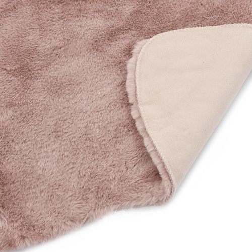 Tepih od umjetnog zečjeg krzna 65 x 95 cm blijedo ružičasti slika 11