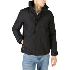 Black  Fall/Winter  Men  Black  Jackets  Polyester