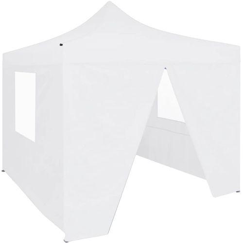 Profesionalni sklopivi šator za zabave 3 x 3 m čelični bijeli slika 1