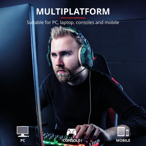 Trust gaming slušalice za PS4/PS5 GXT322 Carus maskirno zelene (20865) slika 9