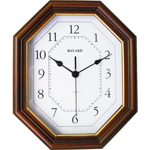 ULISSE nečujni zidni quartz sat - puno drvo slika 1