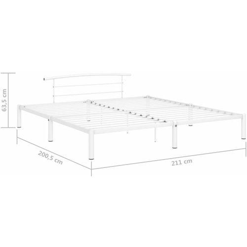 Okvir za krevet bijeli metalni 200 x 200 cm slika 8