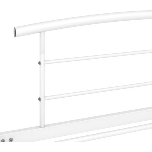 Okvir za krevet bijeli metalni 100 x 200 cm slika 5
