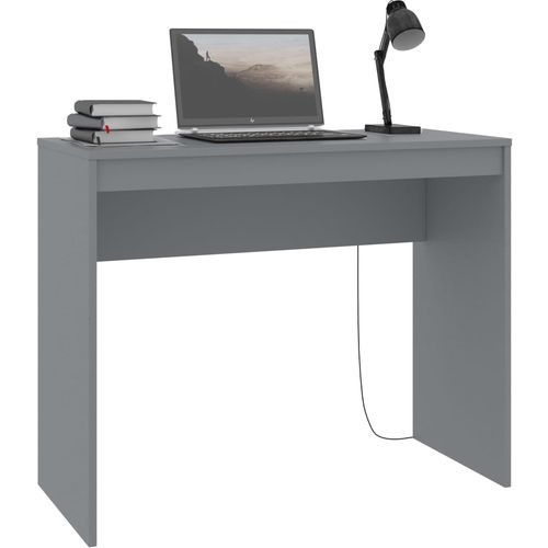 Radni stol sivi 90 x 40 x 72 cm od iverice slika 3