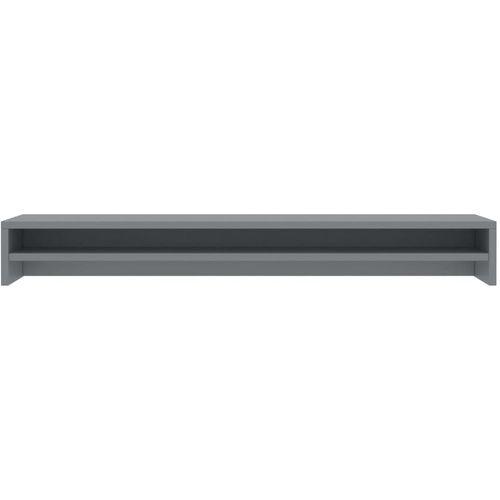 Stalak za monitor sivi 100 x 24 x 13 cm od iverice slika 4
