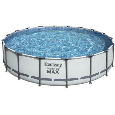 Montažni bazen Steel Pro sa filtar pumpom, ljestvama, pokrivačem i podlogom. Dimenzija 549 x 122 cm. Kapacitet 23062 litre. Protok vode kroz filtar pumpu: 5678 l / h