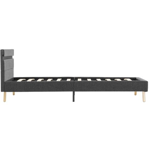 Okvir za krevet od tkanine LED tamnosivi 90 x 200 cm slika 6