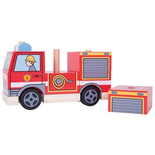 Bigjigs Didaktička igračka vatrogasno vozilo  slika 1