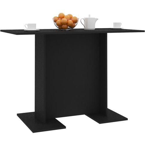 Blagovaonski stol crni 110 x 60 x 75 cm od iverice slika 3