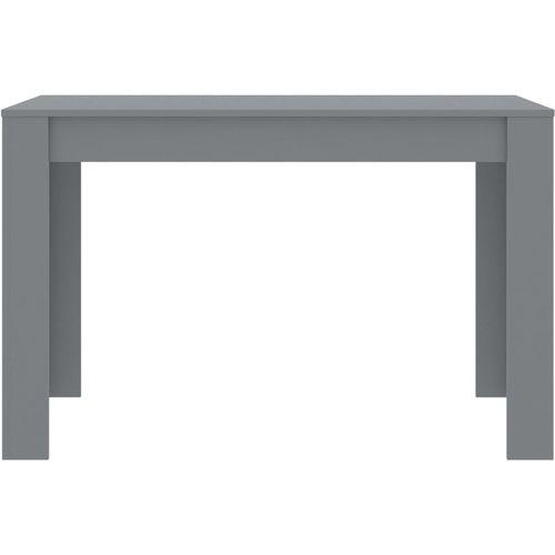 Blagovaonski stol sivi 120 x 60 x 76 cm od iverice slika 4