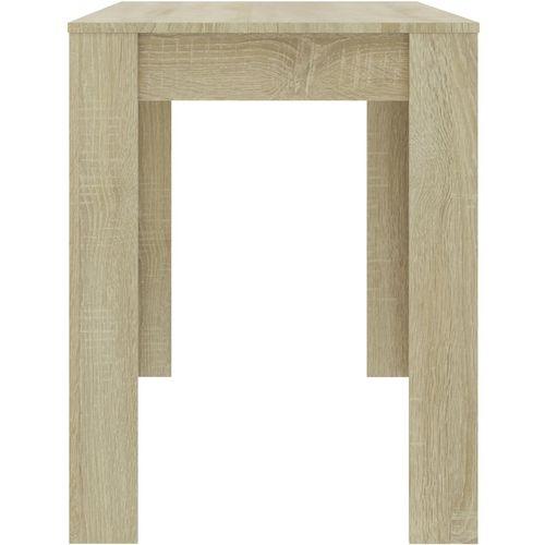 Blagovaonski stol boja hrasta sonome 120 x 60 x 76 cm iverica slika 11