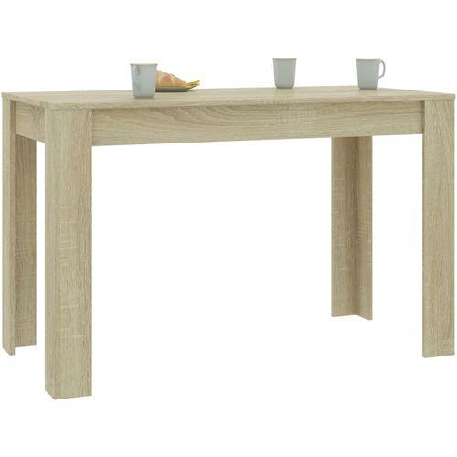 Blagovaonski stol boja hrasta sonome 120 x 60 x 76 cm iverica slika 3