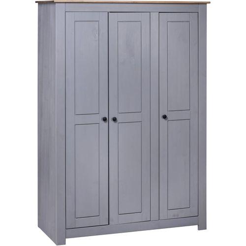 Ormar od borovine 3 vrata sivi 118x50x171,5 cm asortiman Panama slika 1