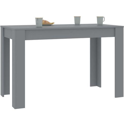 Blagovaonski stol sivi 120 x 60 x 76 cm od iverice slika 3