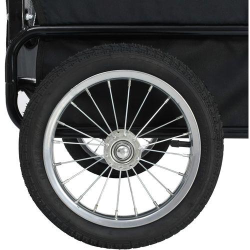 2-u-1 prikolica za bicikl i kolica za kućne ljubimce crveno-crna slika 8
