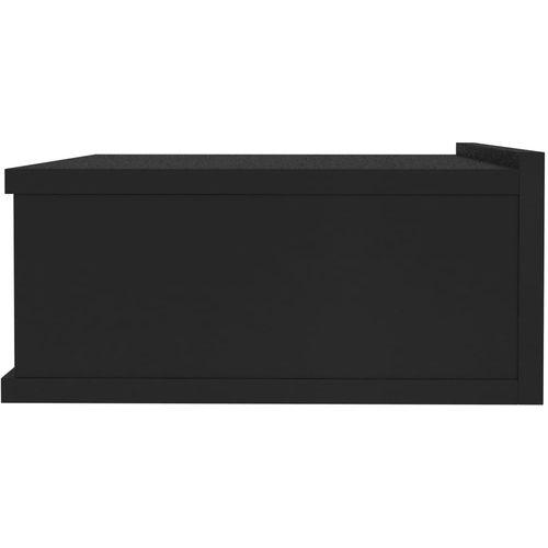 Viseći noćni ormarići 2 kom crni 40 x 30 x 15 cm od iverice slika 9