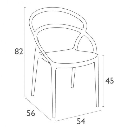 Dizajnerska stolica — BONZINI P slika 12
