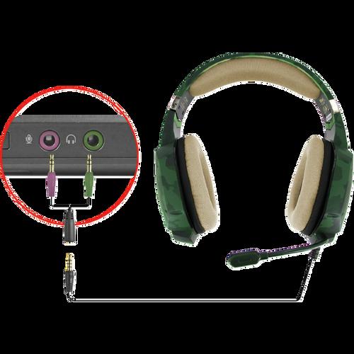 Trust gaming slušalice za PS4/PS5 GXT322 Carus maskirno zelene (20865) slika 7