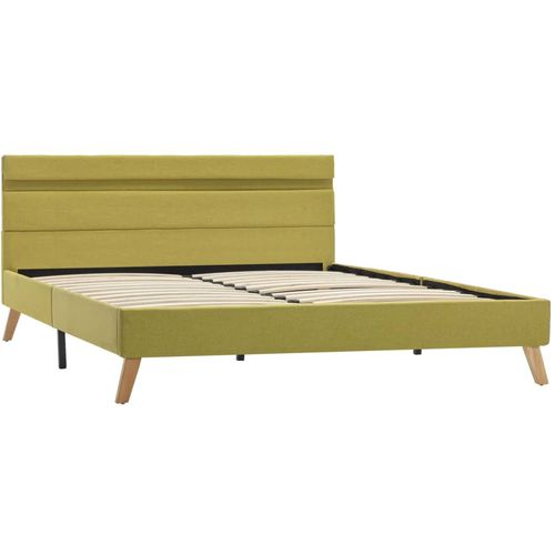 Okvir za krevet od tkanine s LED svjetlom zeleni 140 x 200 cm slika 4