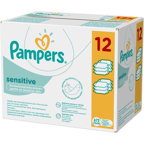 Sensitive Dječje vlažne maramice Pampers, 12 x 56 komada slika 1