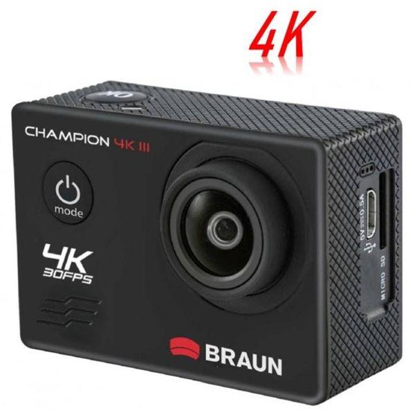 Za sve strastvene rekreativne sportaše i ljubitelje Outdoor prostora koji žele zabilježiti svoje aktivnosti oštrim video zapisima i fotografijama, akcijska kamera BRAUN Champion 4K III nudi savršen faktor zabave.